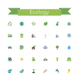 Ecology Flat Icons vector image vector image