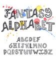 entangle alphabet vector image