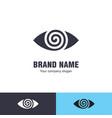 eye logo design template vector image vector image