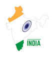 flag and map of india vector image vector image