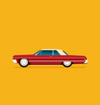 flat lowrider car icon vector image