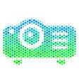halftone blue-green projector icon vector image vector image