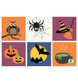 halloween icons set traditional trick or vector image vector image