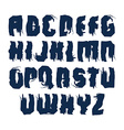 Handwritten dirty contemporary uppercase letters vector image vector image