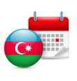 Icon of national day in azerbaijan vector image vector image