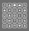 icon set art technology file vector image