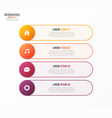 infographic template with 4 options design vector image vector image