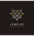 jewelry elegant logo design vector image vector image