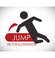 Jumping design vector image vector image