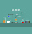 laboratory equipment for hemistry science and vector image