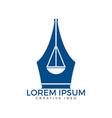 law education logo vector image vector image