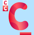 letter c graphic design vector image