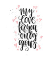 Love Grows vector image vector image