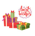 merry christmas wrapped xmas presents boxes icons vector image vector image