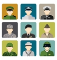 Military social network avatar icons set vector image vector image