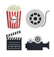 movie entertainment elements icon vector image