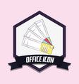office icon design vector image vector image