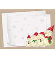 paper sheets and snowmen vector image vector image