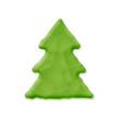 plasticine xmas tree vector image