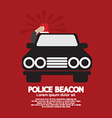 Police Beacon At Cars Roof vector image vector image