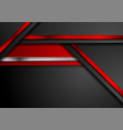 red black and metallic abstract hi-tech vector image vector image