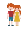 redhead couple children with taken hands vector image vector image
