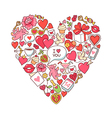 Romantic background heart vector image vector image