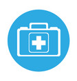 round icon medical bag cartoon vector image vector image