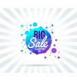 sale banner template purple vector image