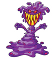 scary violet monster vector image vector image