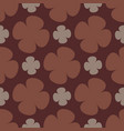 seamless pattern of four leaf flowers vector image vector image