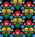 Seamless Polish folk art floral pattern - lowicz vector image vector image