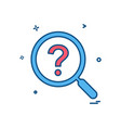 search icon design vector image vector image