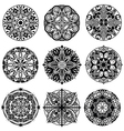 Set of Ornament round mandalas vector image
