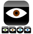 simple human eye icons in different colors with vector image vector image