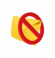 Spam warning icon cartoon style vector image