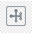 spirit concept linear icon isolated on vector image