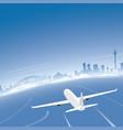 sydney skyline flight destination vector image