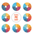 templates for area pie chart for 345678910 vector image vector image