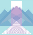 trendy background mountains and roads flat style vector image vector image