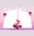 valentines day card with hearts geometric vector image