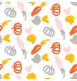 vegetable seamless pattern hand drawn vector image