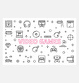 video games concept outline banner or vector image vector image