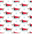 winter seamless pattern with cute dogs vector image vector image
