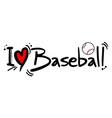 baseball love vector image