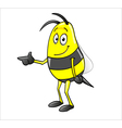 bee pointing vector image