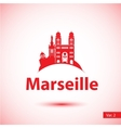 silhouette of the symbol of Marseille vector image