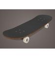 Stylized skateboard vector image