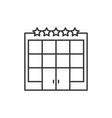 hotel building line icon vector image