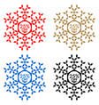 25 off discount sticker snowflake 25 off sale vector image vector image
